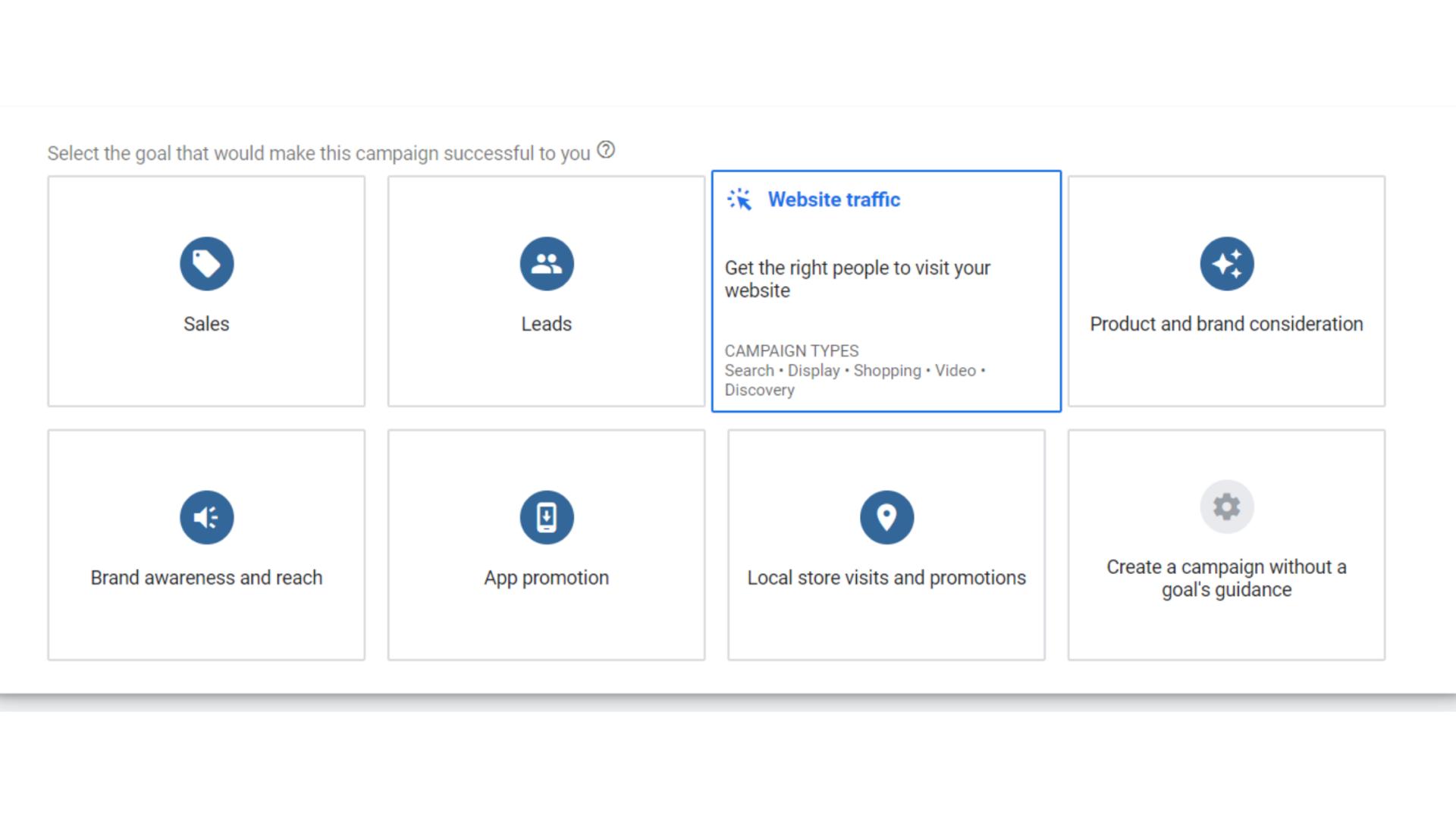 Google Ads Objectives